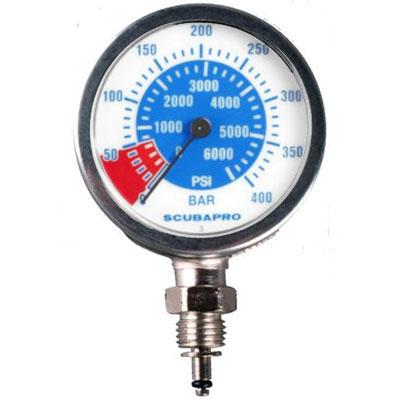 Scubapro Dual Pressure Gauge PSI and BAR
