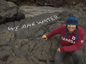 Filmaker, Explorer and fellow Canadian Jill Heinerth gets creative with rocks.